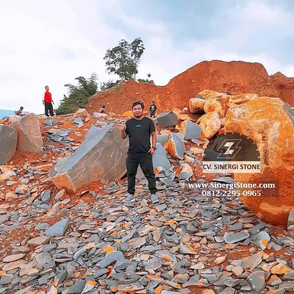 Batu Andesit Alam Cirebon untuk Pagar Dinding Lantai Harga 2019