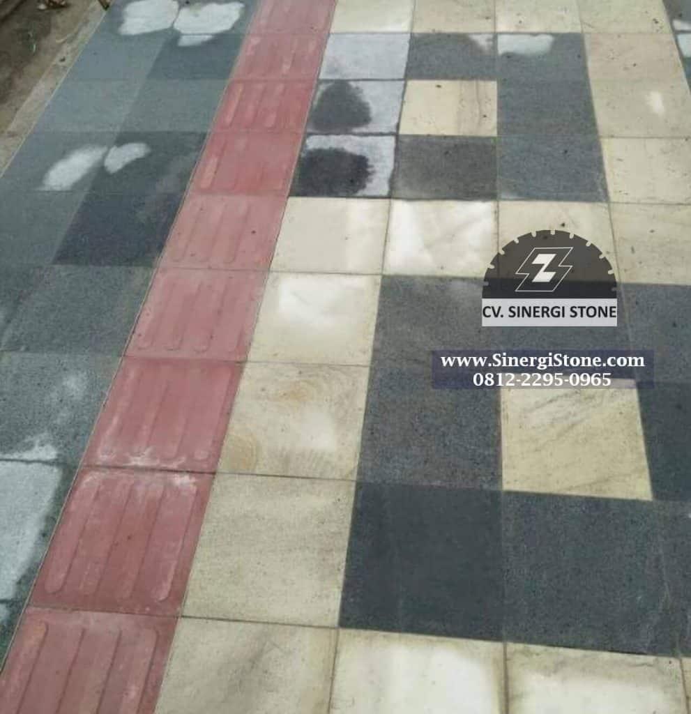 jenis batu andesit trotoar lantai