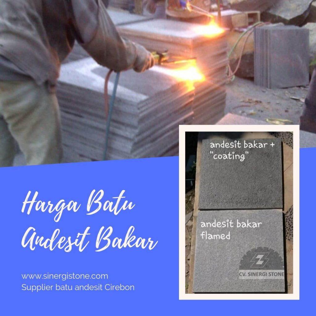 Harga Batu Andesit Bakar & Andesit Bintik Bakar 2019
