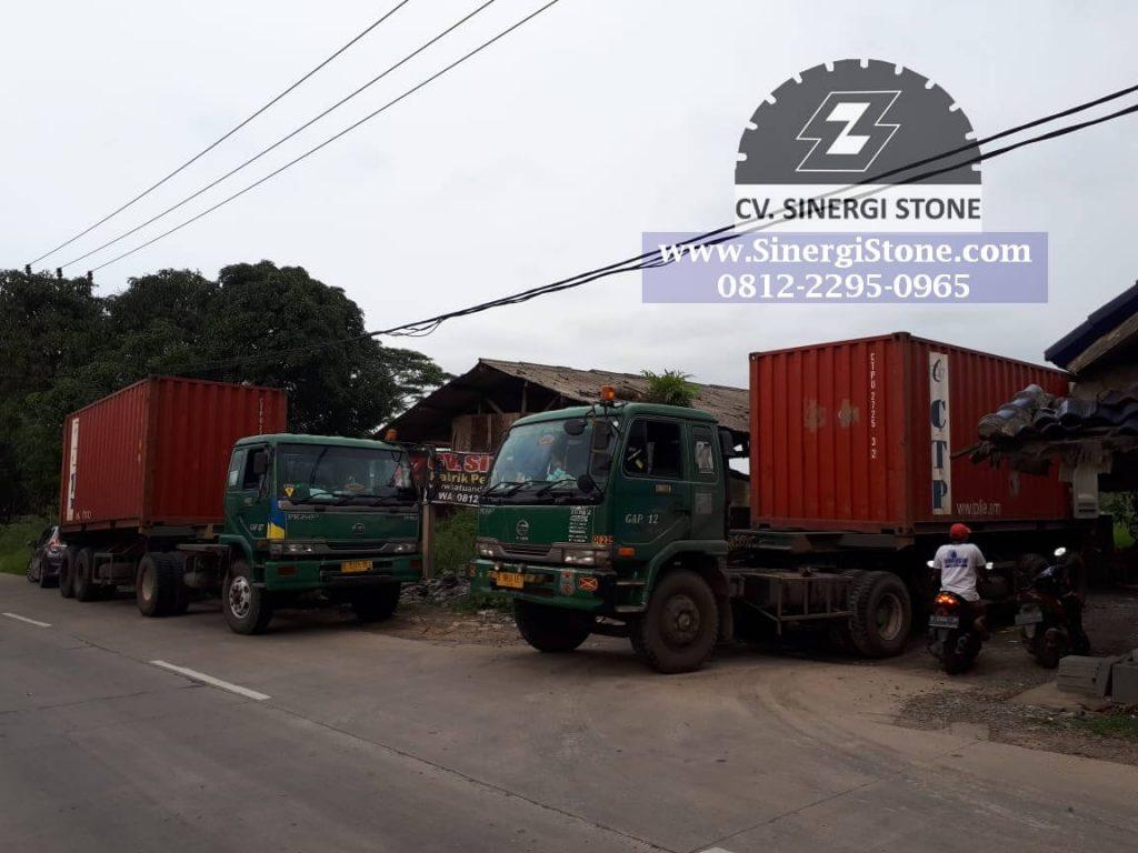 Pengiriman Batu Andesit ke JABODETABEK, Jawa & Luar Jawa oleh Sinergi Stone