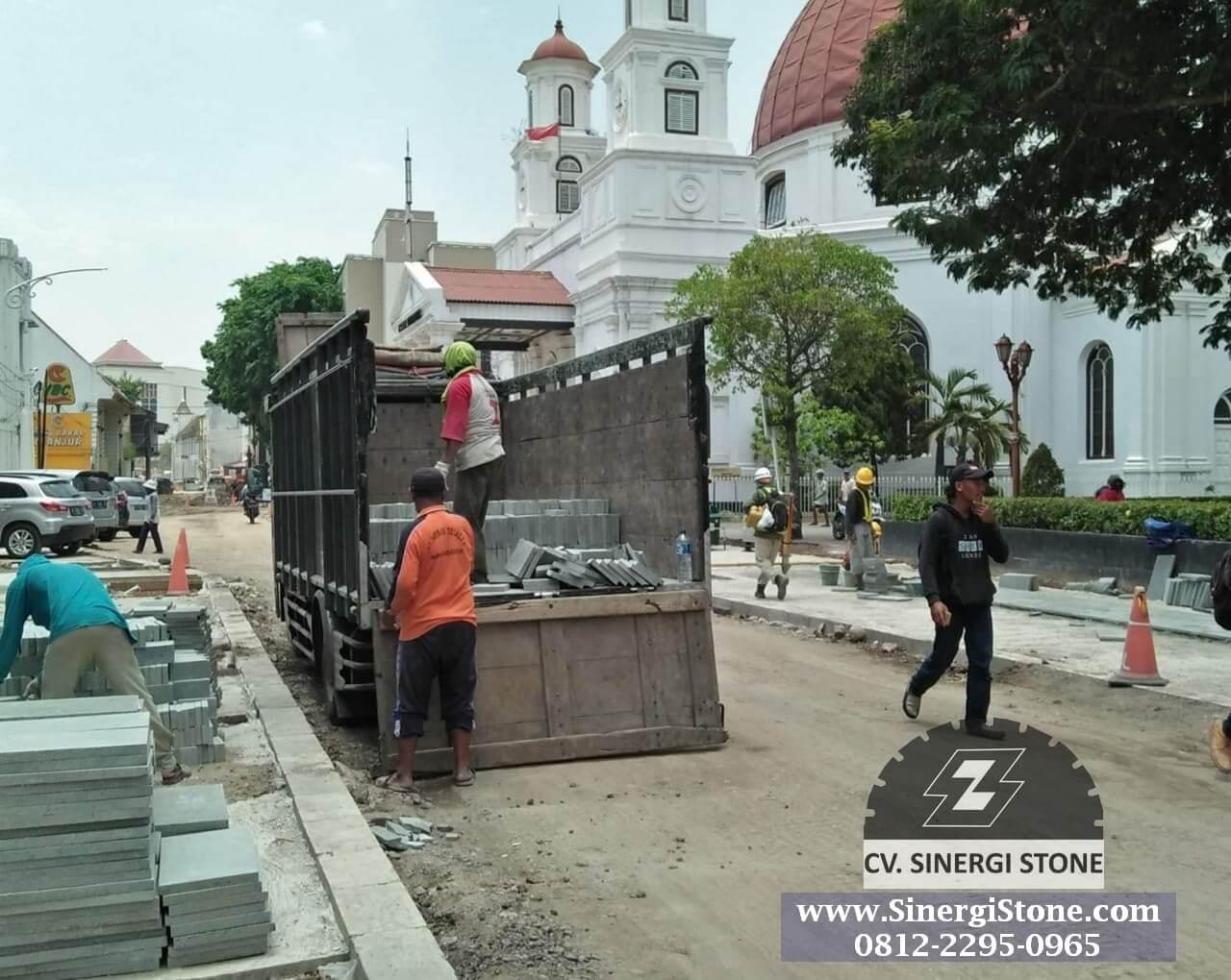Supply batu andesit cv sinergi stone pada proyek kota lama semarang tahun 2018