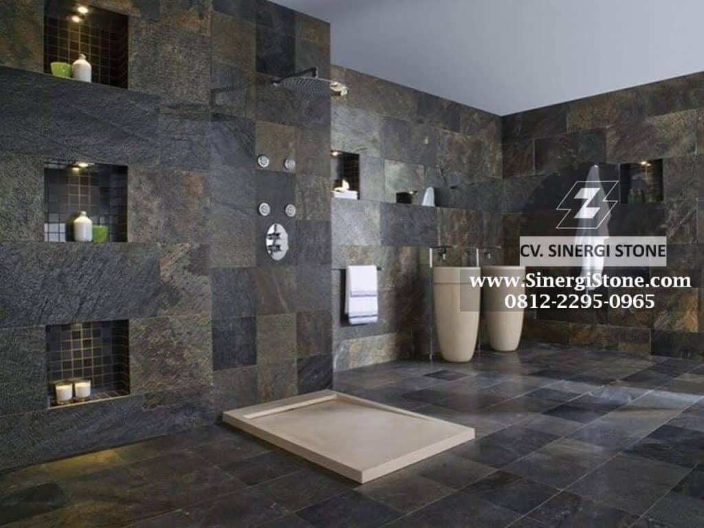 Material Lantai Kamar Mandi: Keramik, Batu Andesit, Batu Kali