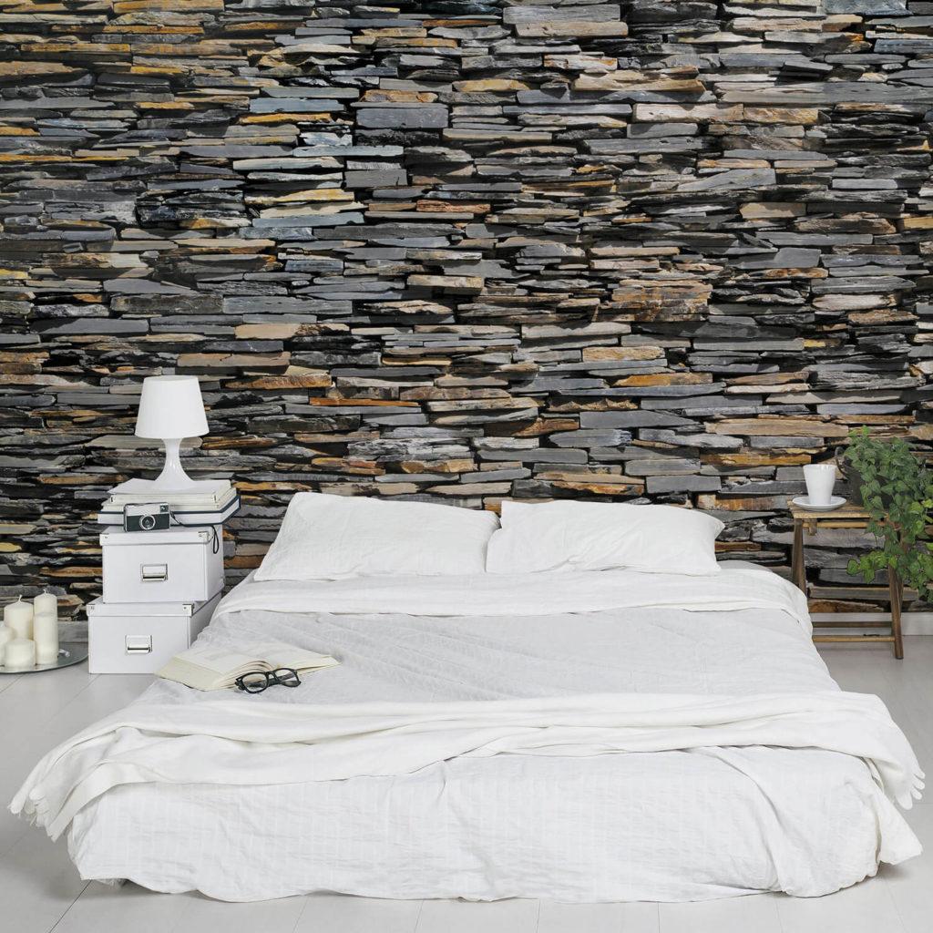 Motif Batu Alam Dinding model Graphite