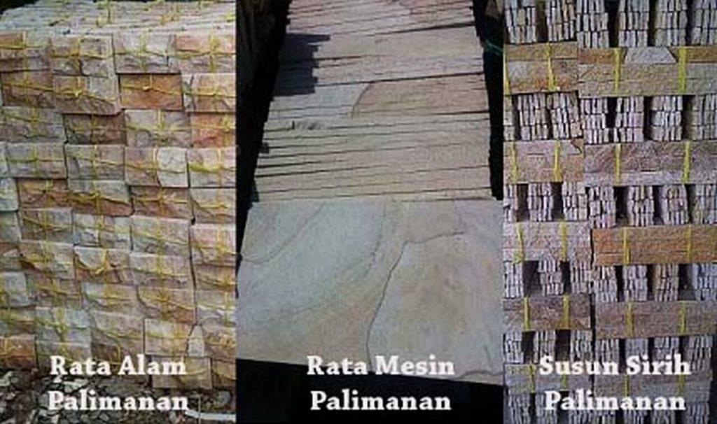 harga batu alam palimanan per meter termurah di Cirebon
