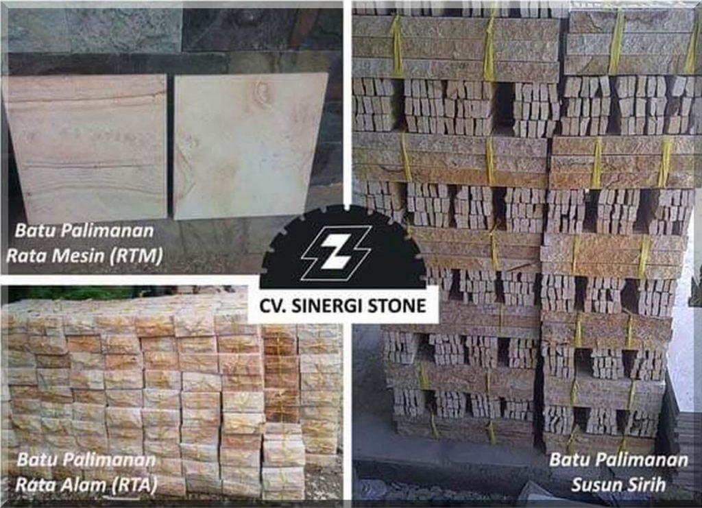 jenis batu alam palimanan Cirebon motif rta rtm dan susun sirih