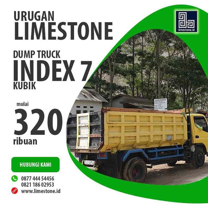 Harga batu gamping per 7 meter kubik dari Sinergi Stone